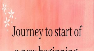 Journey to start of a new beginning