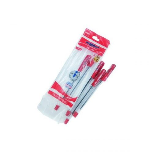 Cello Finegrip Ball Pen Red 0.7 mm Pack of 5_1615749930168-Front Side_result_result