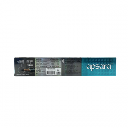 Apsara Absolute Extra Strong & Extra Dark Premium Pencils Pack of 10 with Sharpener & Eraser_1615666749545-Back Side_result