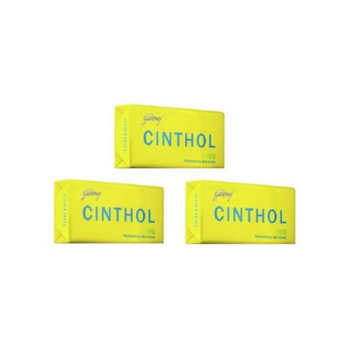 Cinthol Germ Protection Lime Refreshing Deo Bath Soap (3 x 125 g) Pack of 3 PCs_Front_Combined