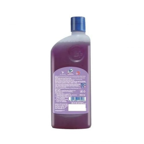 Lizol Disinfectant Surface Cleaner Lavender 500 ml Liquid Bottle (10X Cleaning & 99.9% Germ Kill)_Back