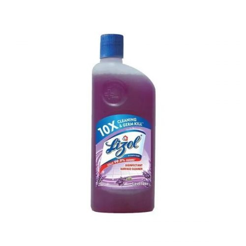 Lizol Disinfectant Surface Cleaner Lavender 500 ml Liquid Bottle (10X Cleaning & 99.9% Germ Kill)_Front_Single