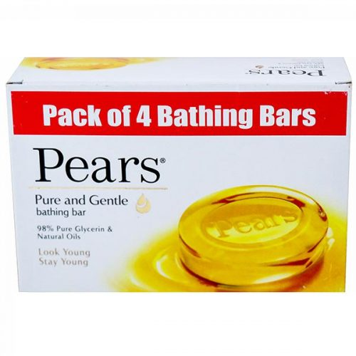 Pears Pure & Gentle Glycerin & Natural Oils Bathing Soap 75 g (Buy 3 Get 1 Free)_Front Side